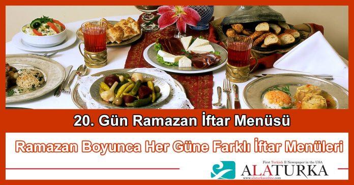 20 Gun Ramazan Iftar Menusu