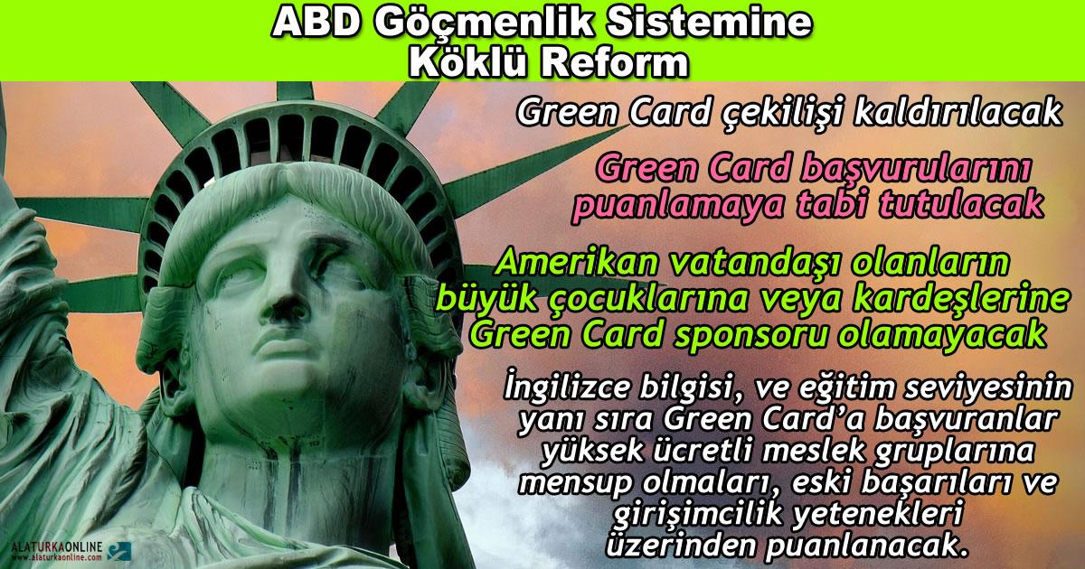 Green Card Sistemine Köklü Değişiklikler