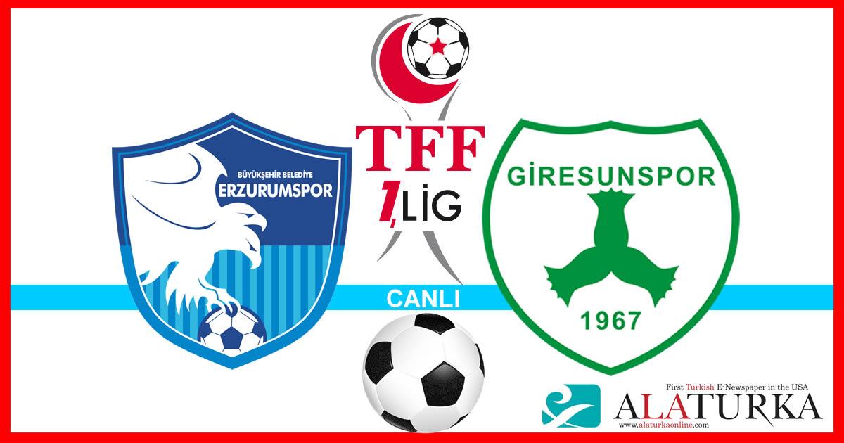 Erzurumspor – Giresunspor maçını canlı izle