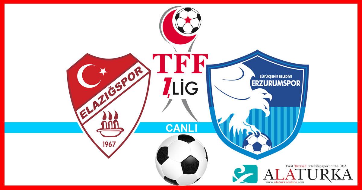 Elazığspor – Erzurumspor maçını canlı izle