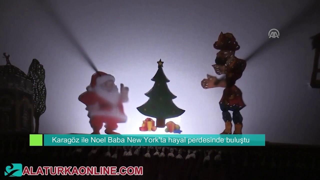Karagöz ile Noel Baba New York'ta hayal perdesinde buluştu