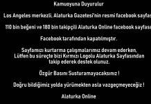 Facebook Alaturka Online Facebook sayfasini kapatti
