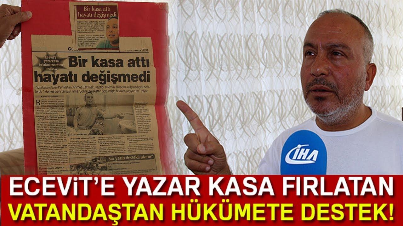 """Ecevit'e Yazar Kasa Fırlatan Esnaf """"Bugün yazar kasa atılacak bir durum yok !"""""""
