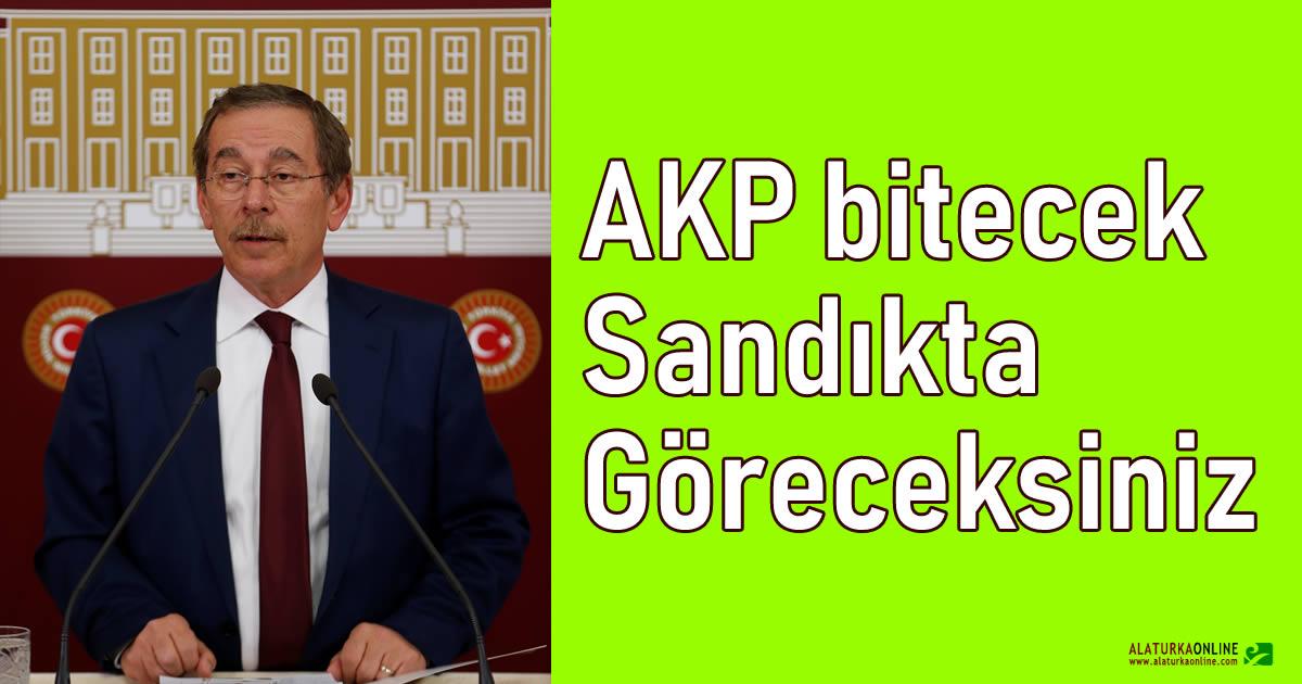 Abdüllatif Şener'den çok konuşulacak açıklama: AKP bitecek, sandıkta göreceksiniz