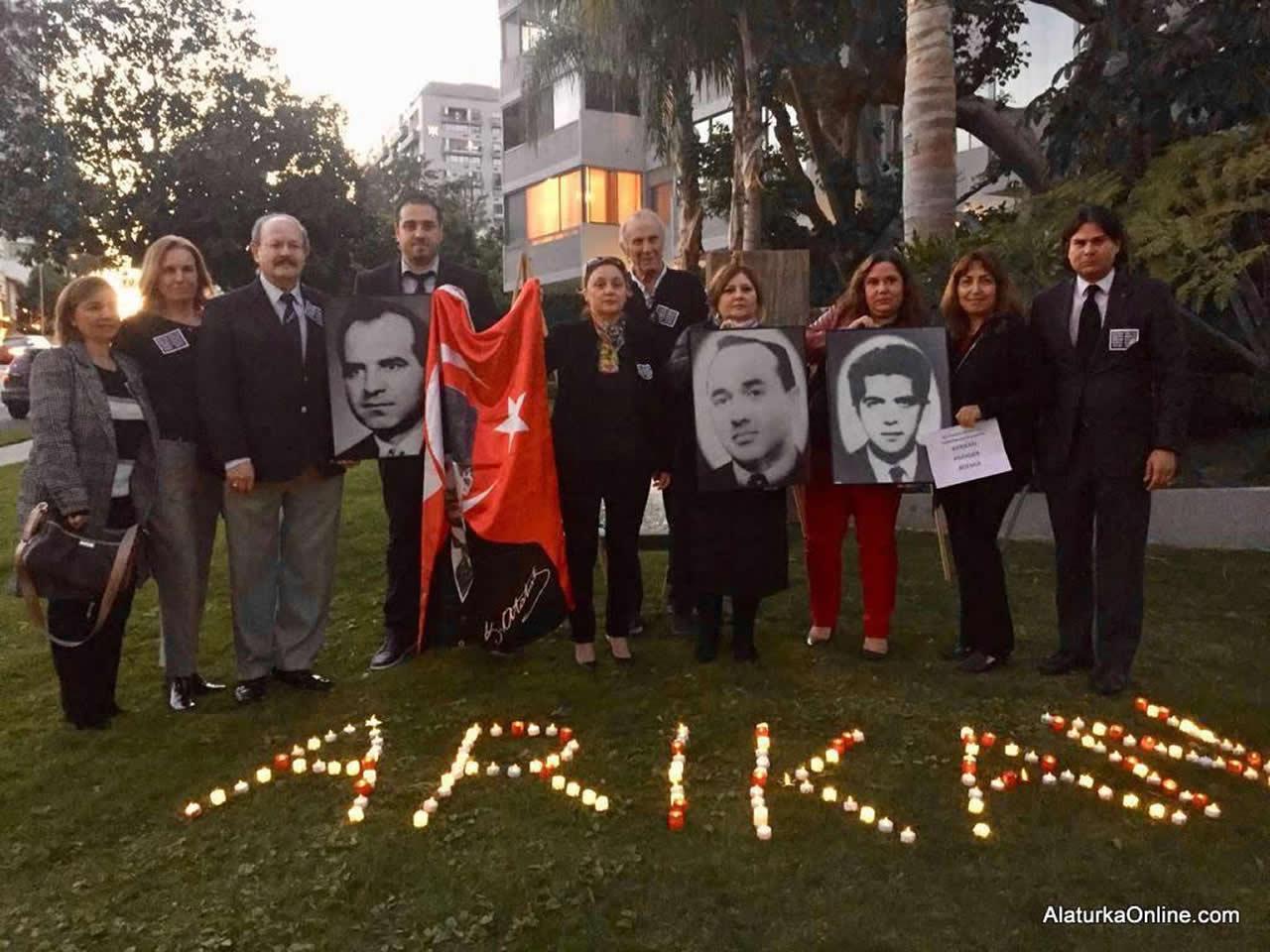 Şehit Diplomatlar Los Angeles'ta Anıldı
