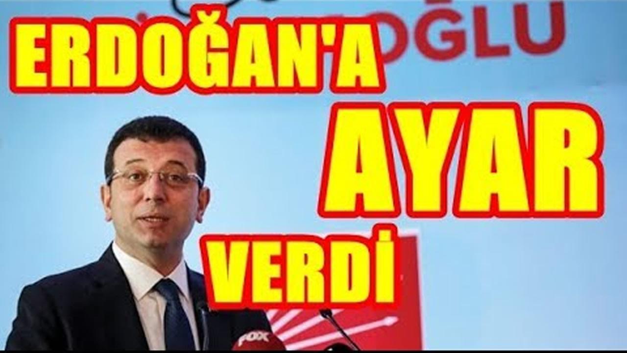 İmamoğlu, Erdoğan'a liderlik dersi verdi