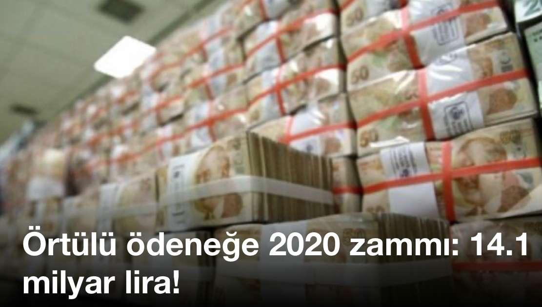 Örtülü ödeneğe 2020 zammı: 14.1 milyar lira!