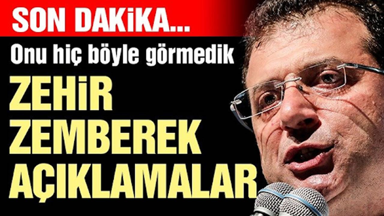 İmamoğlu'ndan İftiralar sonrası Erdoğan ve bir bakana zehir zemberek sözler