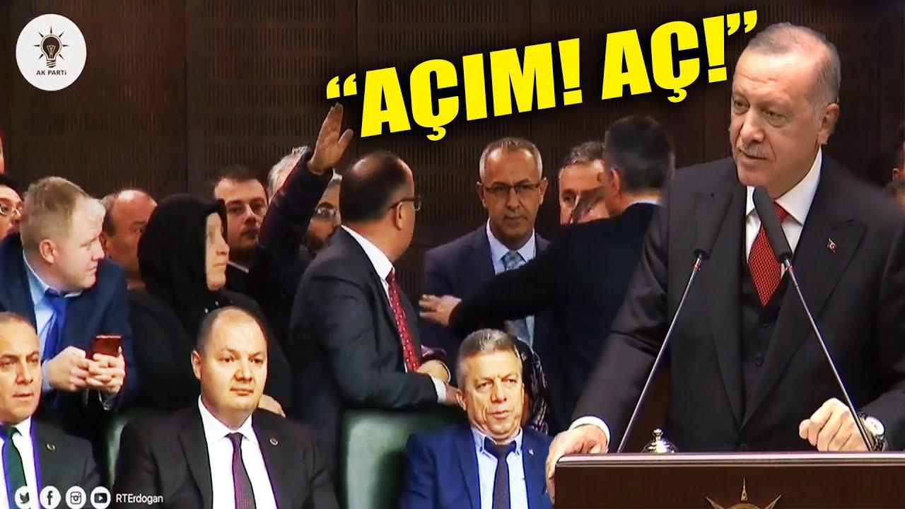 """Erdoğan Konuşurken """"Açım!"""" Diye Bağıran Adam"""