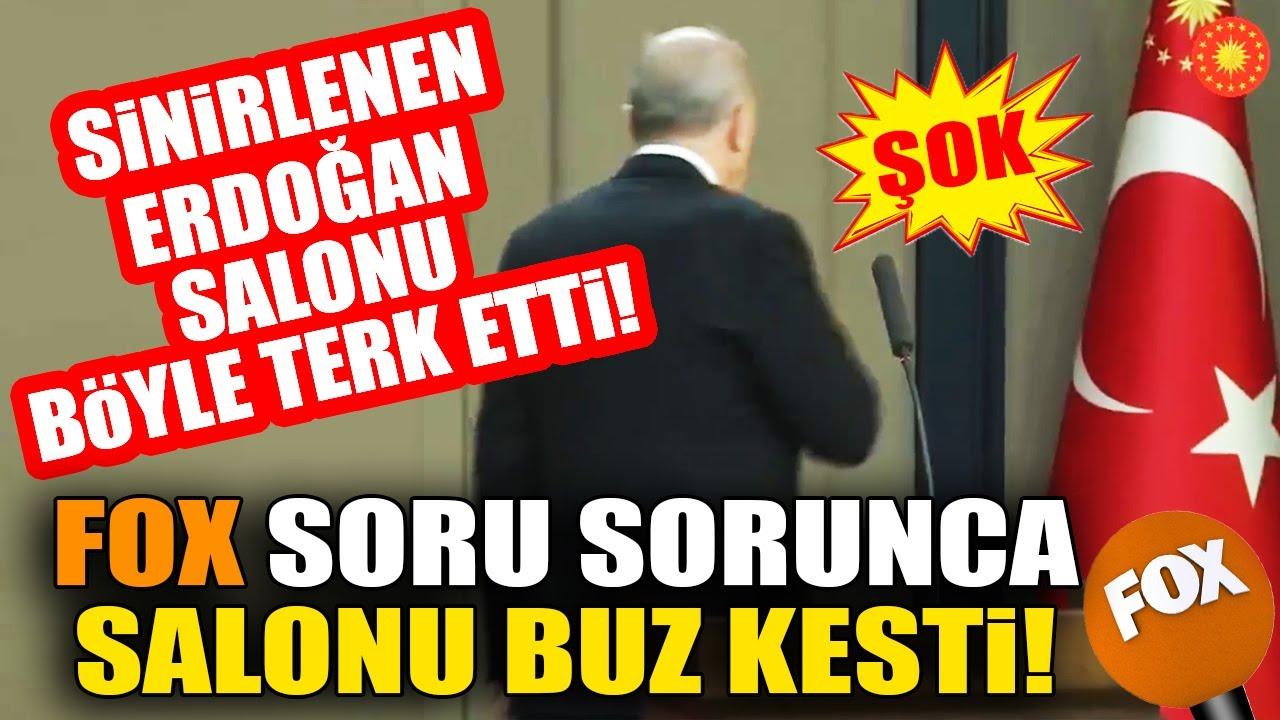 Erdoğan'ı Kızdıran Fox Sorusu! Salon Bir Anda Buz Kesti! İşte O Anlar