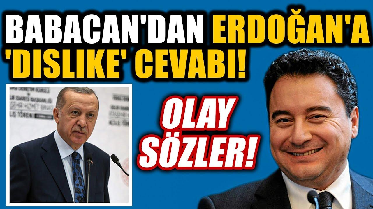 Ali Babacan'dan Erdoğan'a 'dislike' cevabı ve olay sözler!