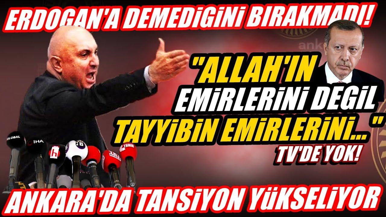Ankara'da tansiyon yükseliyor! Chp'li Engin Özkoç Erdoğan'a demediğini bırakmadı!