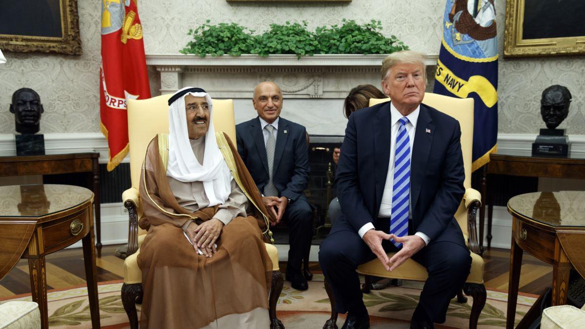 Trump'tan Kuveyt Emiri'ne Liyakat Nişanı