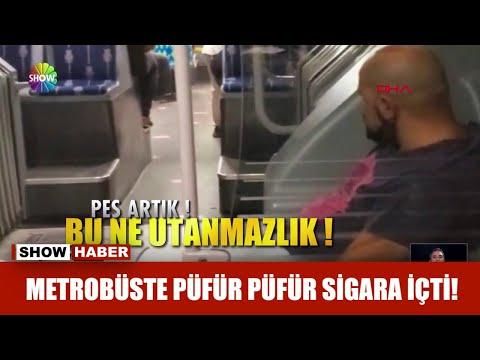 Metrobüste püfür püfür sigara içti!