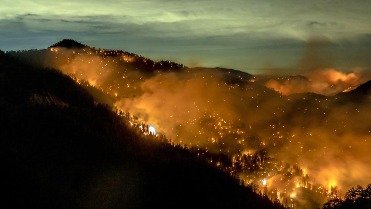 Yangın Söndürme Çalışmalarına Yağmur Desteği