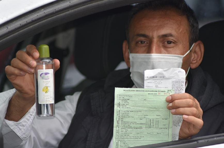 Alkol nedeniyle ceza kesilen sürücü: Kolonya kullandım