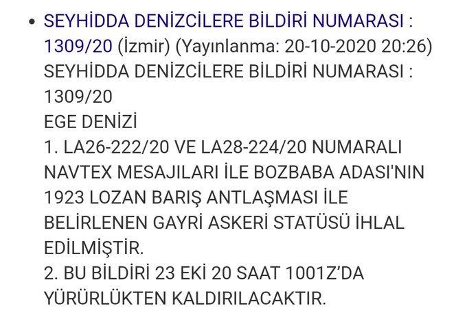 Son dakika… Türkiye'den Lozan ihlaline karşı Navtex kararı