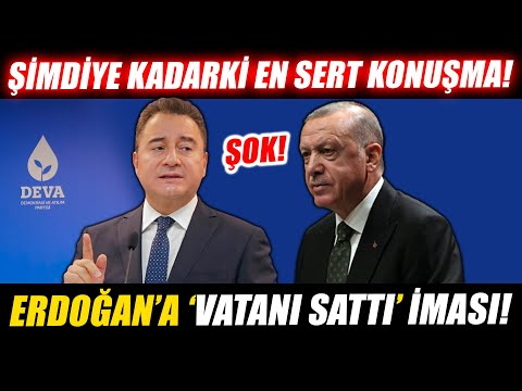 """Erdoğan'a """"vatanı sattı"""" iması! Ali Babacan şimdiye kadarki en sert konuşmasını yaptı!"""