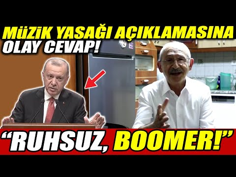 """Erdoğan'ın müzik yasağı açıklamasına Kılıçdaroğlu'ndan olay tepki! """"Ruhsuz Boomer!"""""""
