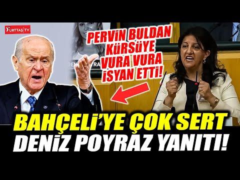 Pervin Buldan'dan Devlet Bahçeli'ye çok sert Deniz Poyraz yanıtı! Kürsüye vura vura isyan etti!