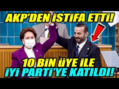 AKP'den istifa ederek 10 bin üye ile İYİ Parti'ye katıldı! Rozetini Meral Akşener taktı!
