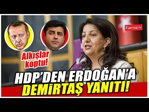 Pervin Buldan'dan Erdoğan'a Selahattin Demirtaş yanıtı! Alkışlar koptu!