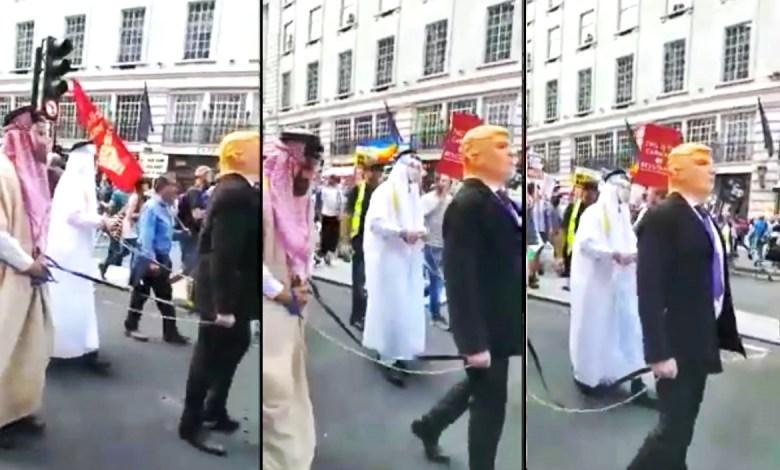 "Photo of احتجاجات امريكا تطرق ""حرب اليمن"" وتتسبب في اهانات لوليي العهد السعودي والاماراتي (فيديو)"