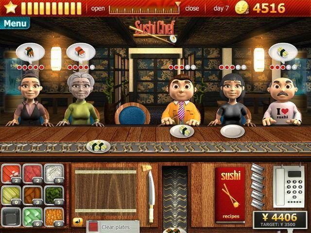 Restaurant Games Sushi Chef