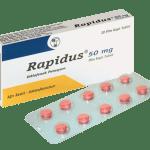 رابيدوس Rapidus اقراص لتسكين الآلام وخافضة للحرارة