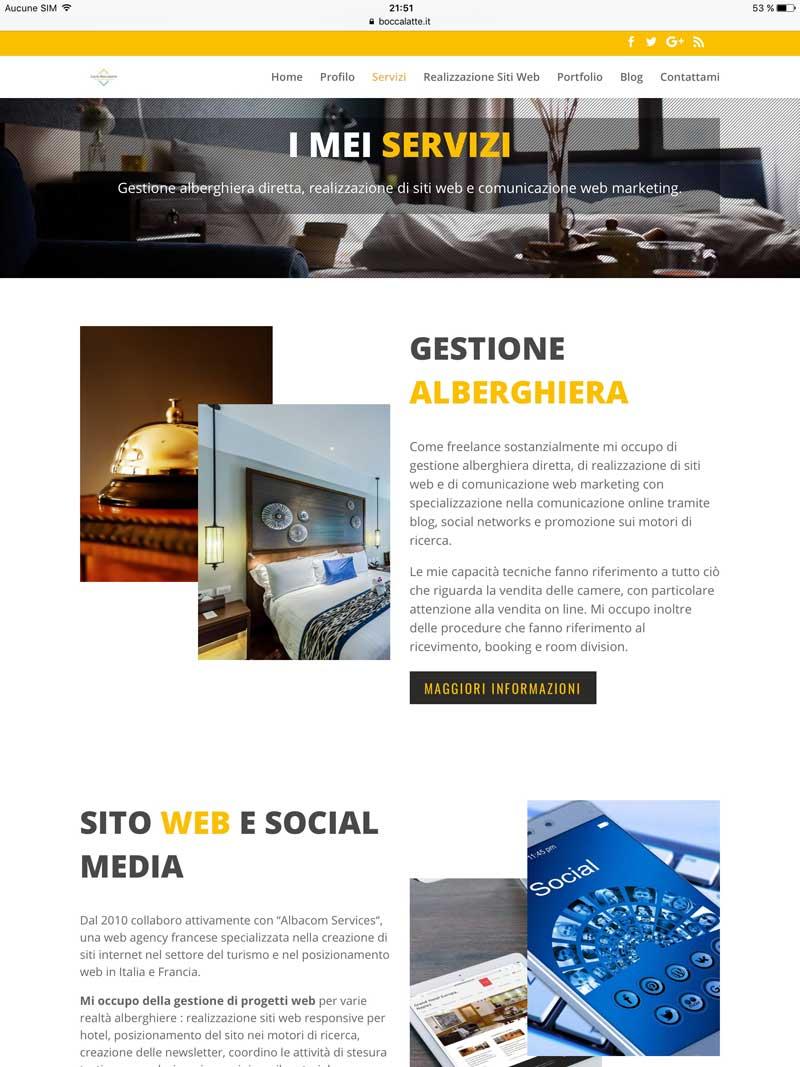 Lucio Boccalatte, consultant en Gestion hôtelière et Web marketing