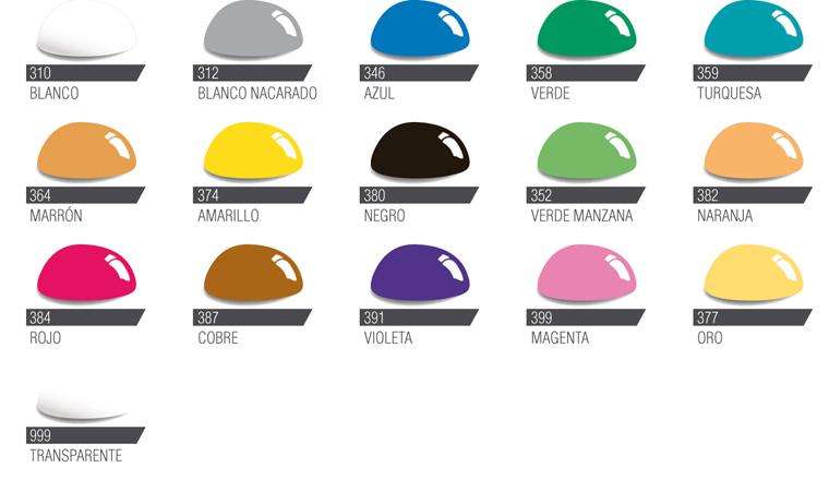 Carta de colores de la laca vitral al agua for Laca al agua para muebles