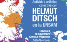 Charla y obra de arte colectiva con Helmut Ditsch