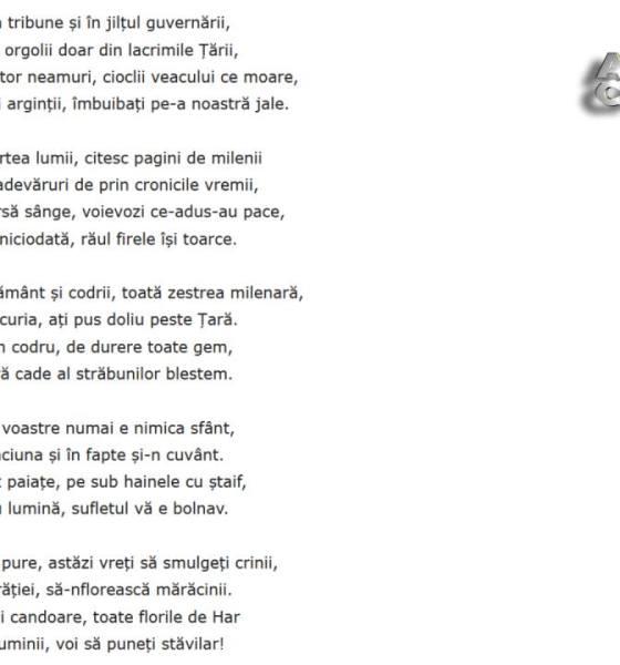 poem manifest tara tradatori slugi politicieni