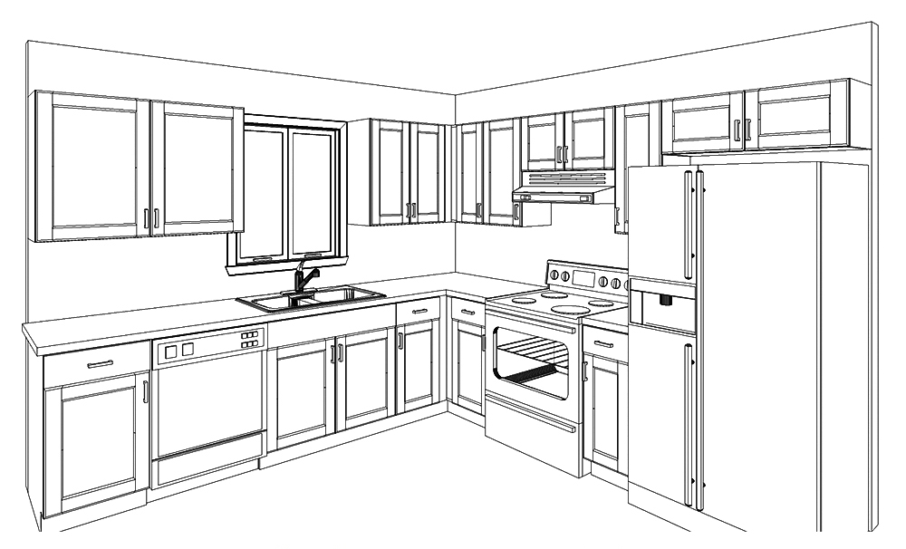 ALBA KITCHEN CABINETS 10X10 SKETCH DESIGN