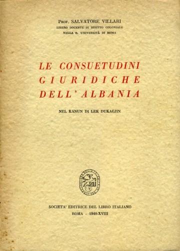 Consuetudini Giuridiche Dell'Albania Copertina Libro