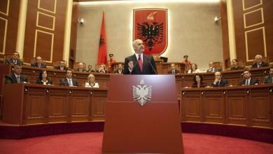 Edi Rama al Parlamento Albanese