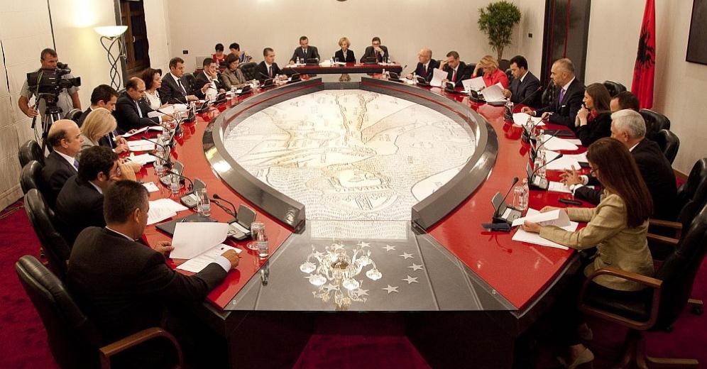 Sala riunioni del Governo Rama