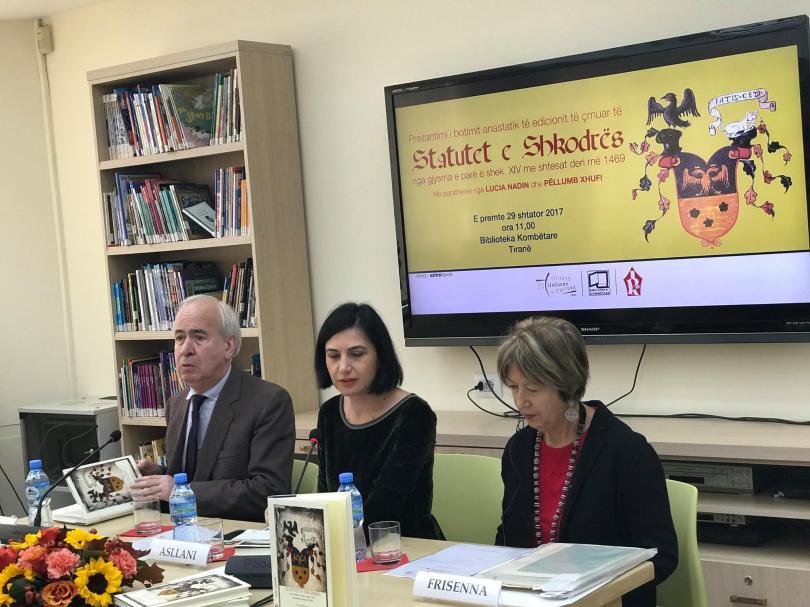 Biblioteca Nazionale A Tirana Presenta La Stampa Anastatica Degli Statuti Di Scutari 1
