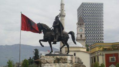 Tirana Piazza Scanderbeg, Monumento Di Scanderbeg