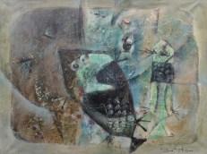 10.Pesci, olio su tela, 60x80cm, 1961