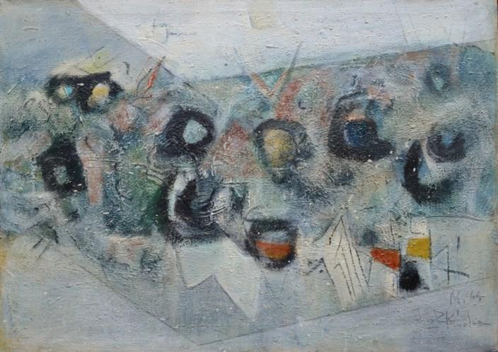 12. Fondo Marino, Olio Su Tela, 50x70cm, 1964