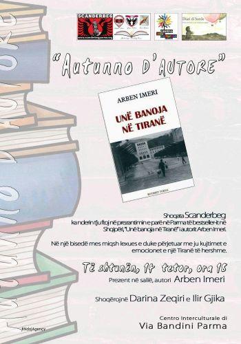 """Prezantim i librit """"Unë banoja në Tirane"""" nga Arben Imeri në Parma"""