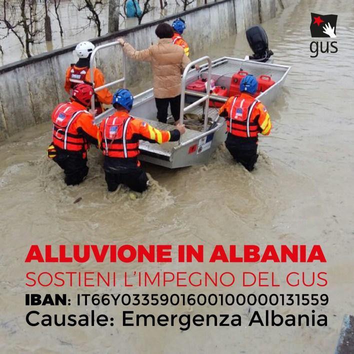 Alluvione Albania Gus