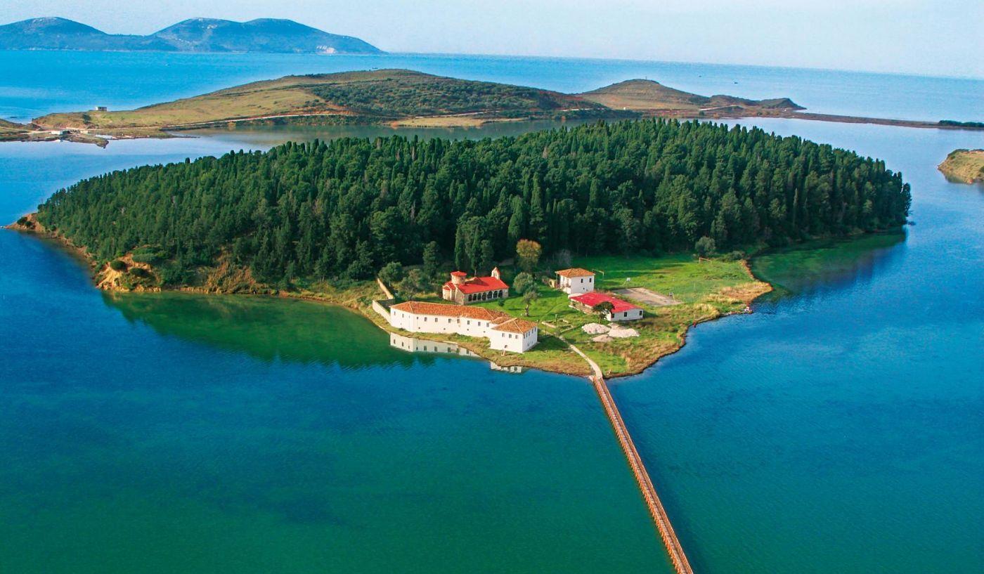 Zvërnec Isola Di Zvernec, Laguna Di Narta, Valona, Albania