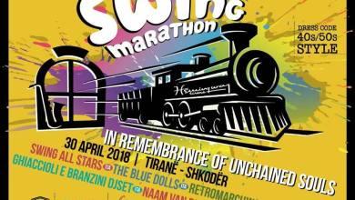 Swing Marathon fra Tirana e Scutari, in Albania, e organizzata da Hemingway Fan Club Albania