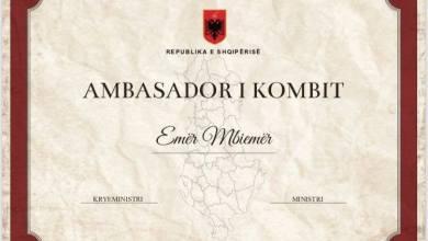Ambasciatore Della Nazione Premio In Albania