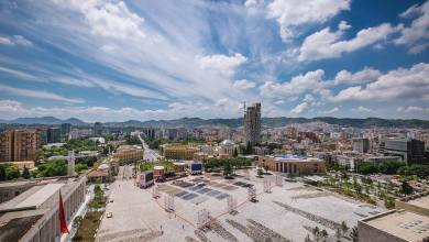 Piazza Scanderbeg, Tirana Albania European Prize for Urban Public Space 2018