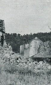 """Jäckh167: """"A kulla [fortified stone tower] blown up and destroyed"""" (Photo: Ernst Jäckh, ca. 1910)."""