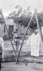"""Jäckh191: """"Hanged in Dibra by a military court"""" (Photo: Ernst Jäckh, ca. 1910)."""