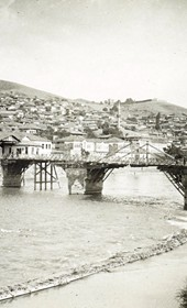 "Jäckh207: ""The Bulgarian town of Köprülü on the Vardar River,"" now the Macedonian town of Veles (Photo: Ernst Jäckh, ca. 1910. Courtesy of Rare Books and Manuscript Library, Columbia University, New York, 130114-0071)."